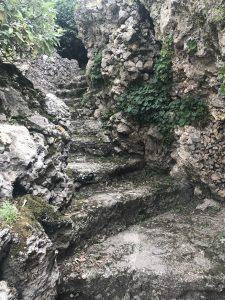 Best things to do in Bellagio, Italy. Explore the Giardini di Villa Melzi. Staircase cut into stone