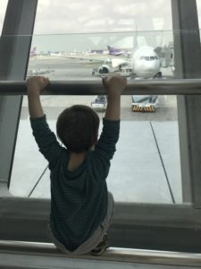 At the airport with a 2 year old