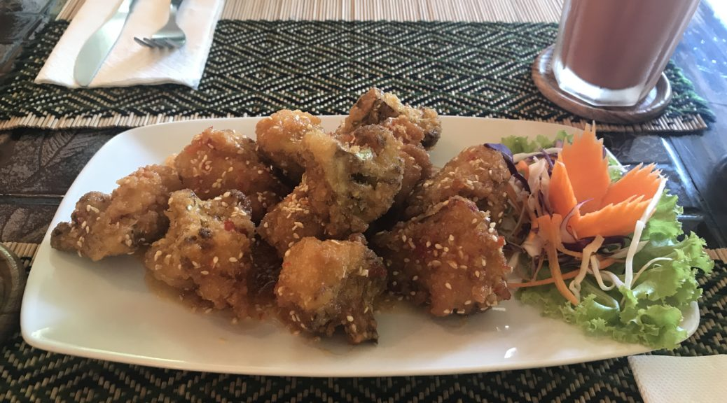 Cauliflower 'chicken wings' at Vegan Heaven restaurant in Chiang Mai old town