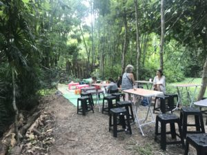 Children's area at the Nana Jungle market