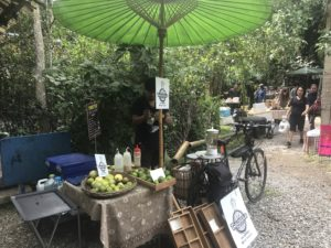 Bicycle operated blender at he Nana Jungle market in Chiang Mai