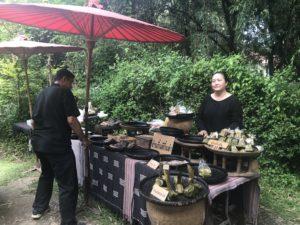 Nana Jungle market grilled fish stall, Chiang Mai