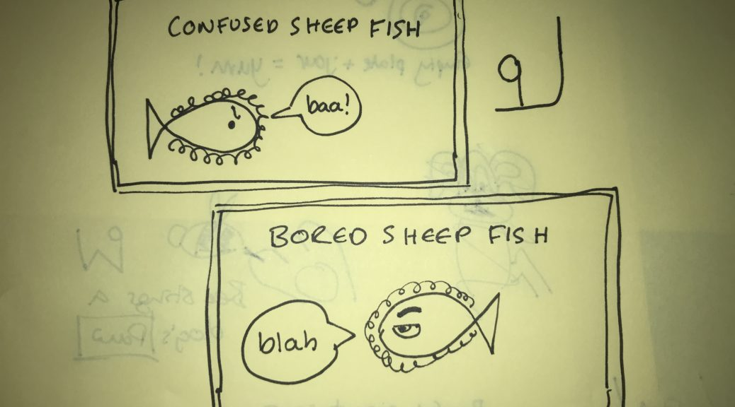 The confused fish sheep