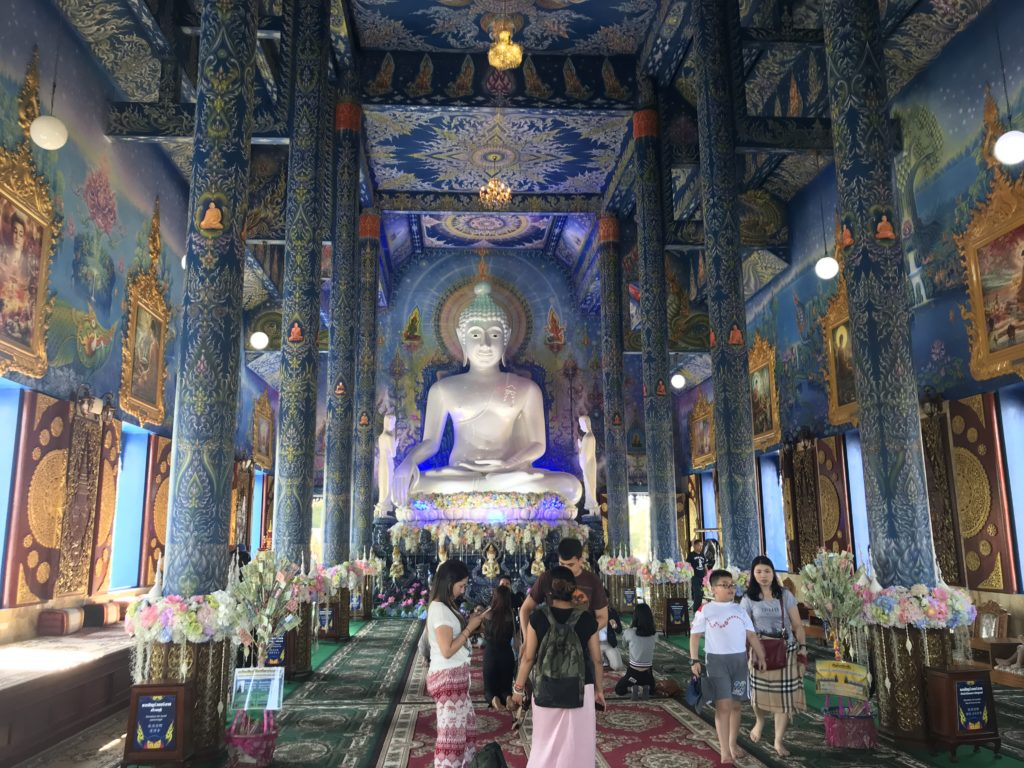 Interior of the Blue temple