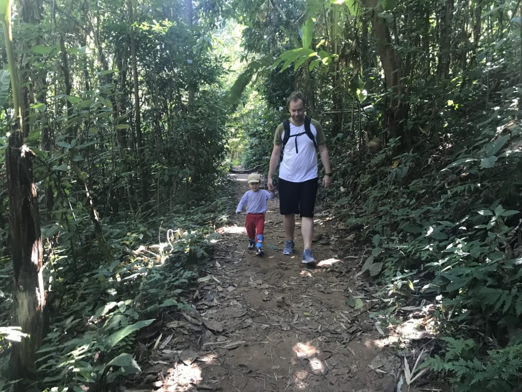 Hiking to the Khun Korn waterfall, Chiang Mai, with 2 small children