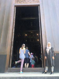 Black 'temple' entrance