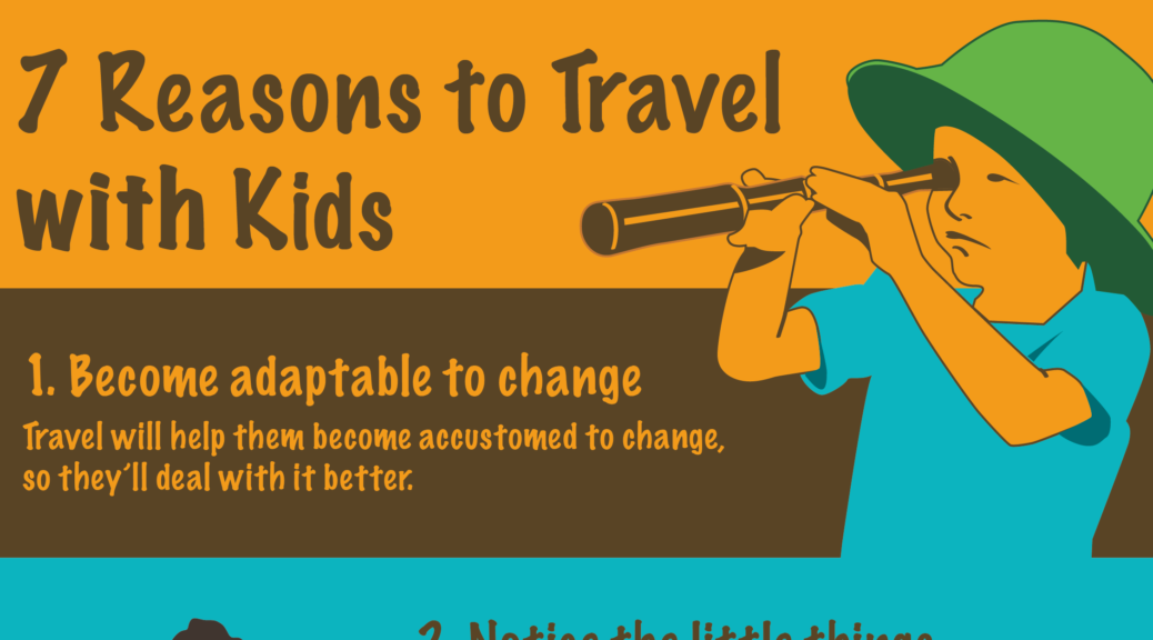 7 Reasons to travel with kids infographic promo image