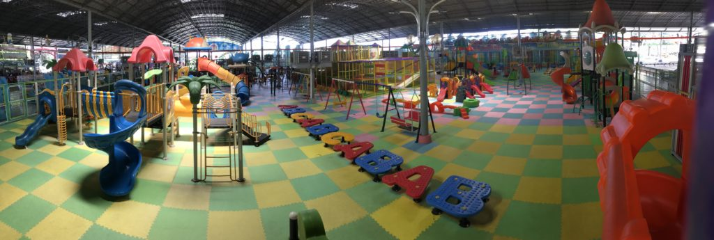 Massive indoor playground panorama