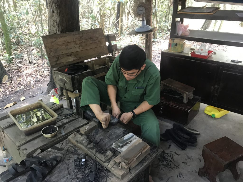 Making Viet Cong shoes