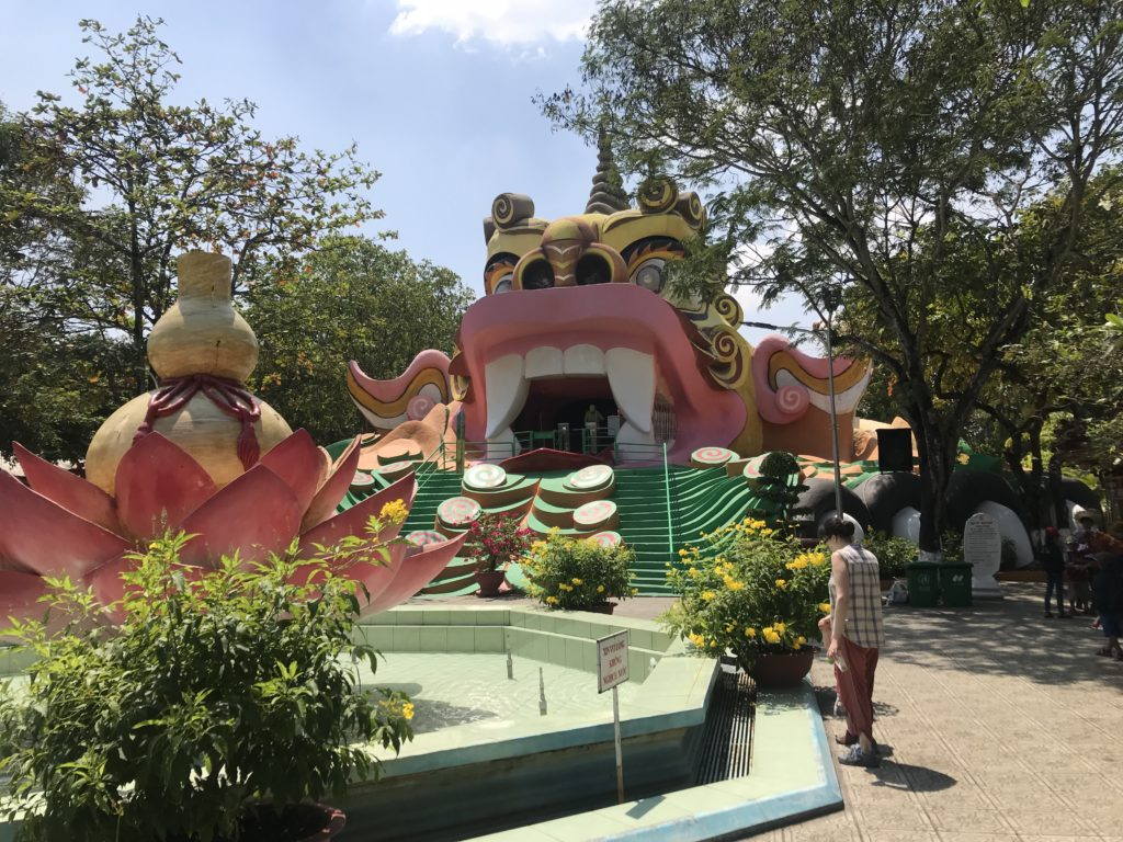 Buddhist hell attraction entrance at Suoi Tien Theme park